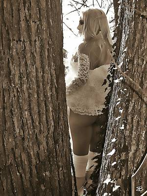 Tease Through The Trees Poster by Mark Baranowski