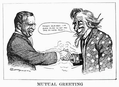 Teddy Roosevelt Cartoon Poster by Granger