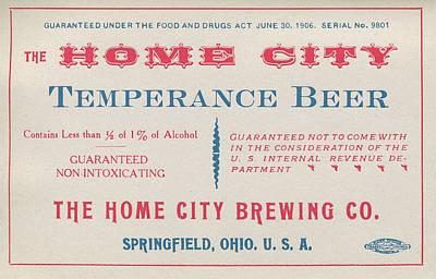 Temperance Beer Label Poster by Tom Mc Nemar