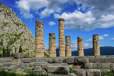 Temple Of Apollo At Delphi, Greece Poster by Global Light Photography - Nicole Leffer