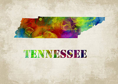 Tennessee  Poster by Mihaela Pater