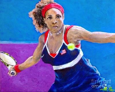 Serena Williams Poster by Alexander Gatsaniouk