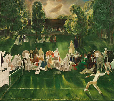 Tennis Tournament Poster by George Bellows