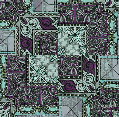 Tessa Art Nouveau Pattern Poster by Mindy Sommers