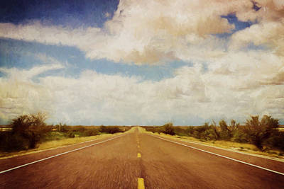 Texas Highway Poster by Scott Norris
