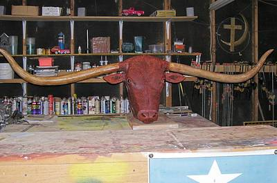 Texas Monster Longhorn Poster by Michael Pasko