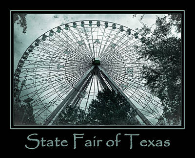 Texas Star Aqua Poster Poster by Joan Carroll