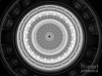 Texas State House Dome Poster by Wendy Fielding