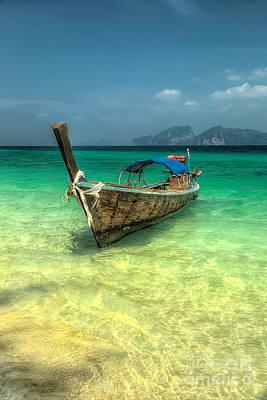 Thai Longboat  Poster by Adrian Evans