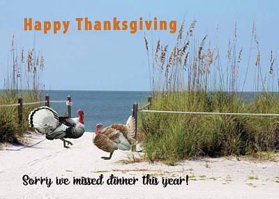 Thanksgiving Humor Poster by Rosalie Scanlon