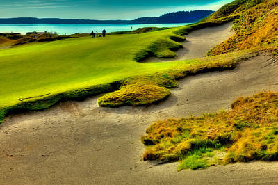 The #1 Hole At Chambers Bay Poster by David Patterson