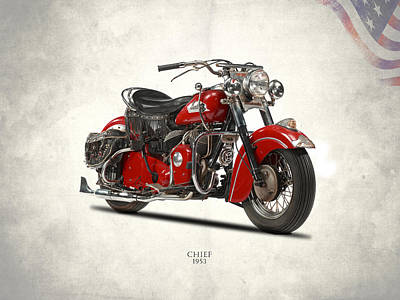 The 1953 Indian Chief Poster by Mark Rogan