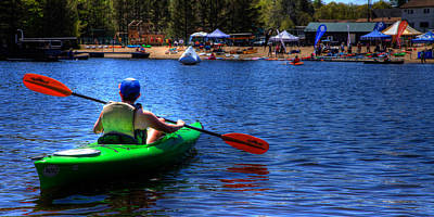 The 2015 Paddlefest In Old Forge Poster by David Patterson