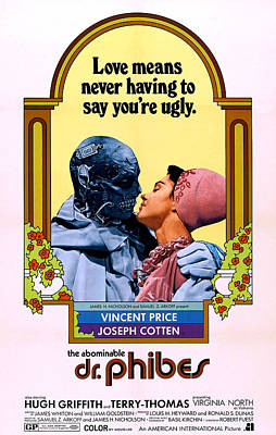 The Abominable Dr. Phibes, From Left Poster by Everett