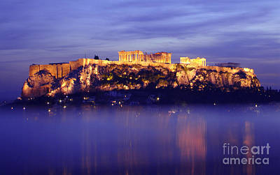 The Acropolis Of Athens Poster by Nicolas Nanev