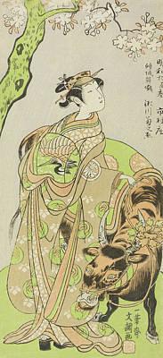 The Actor Segawa Kikunojo II As The Courtesan Maizuru In The Play Furisode Kisaragi Soga Poster by Ippitsusai Buncho