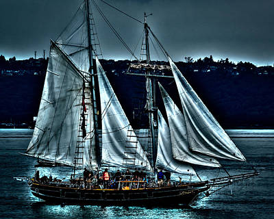 The Amazing Grace Topsail Schooner Poster by David Patterson