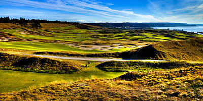 The Amazing Vista Of Chambers Bay Golf Course Poster by David Patterson