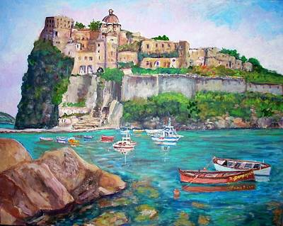 The Aragonese Castle Poster by Teresa Dominici