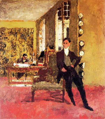 The Art Dealers Poster by Edouard Vuillard