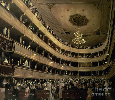 The Auditorium Of The Old Castle Theatre Poster by Gustav Klimt