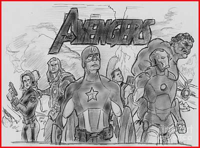 The Avengers Poster by Chris  DelVecchio