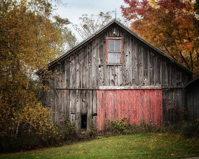 The Barn With The Red Door Poster by Lisa Russo