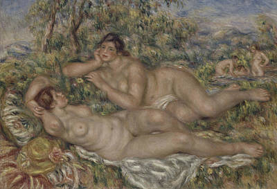 The Bathers Poster by Auguste Renoir