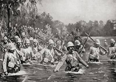 The Battle Of Modder River During The Poster by Vintage Design Pics