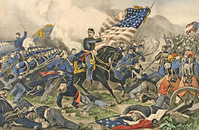 The Battle Of Williamsburg, Va Poster by Currier and Ives