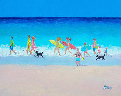The Beach Parade Poster by Jan Matson