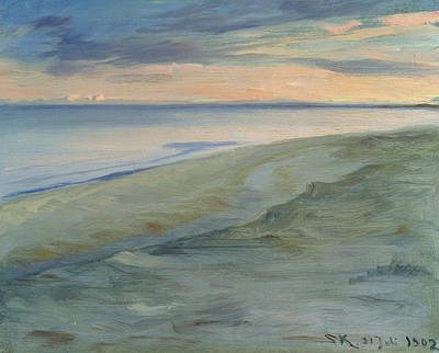 The Beach, Skagen Poster by Peder Severin Kroyer
