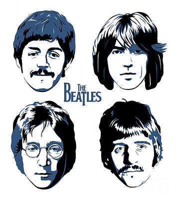 The Beatles No.18 Poster by Caio Caldas