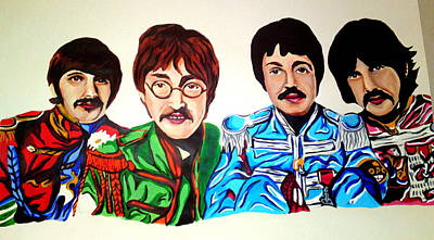 The Beatles  Poster by Pauline Murphy