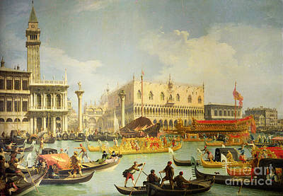 The Betrothal Of The Venetian Doge To The Adriatic Sea Poster by Canaletto