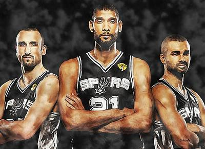 The Big 3 Poster by Carole Jacobs