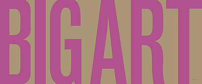 The Big Art - Fuchsia-dahlia On Yin-yang  Poster by Serge Averbukh