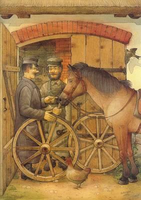 The Blacksmith Poster by Kestutis Kasparavicius