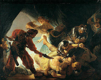 The Blinding Of Samson Poster by Rembrandt