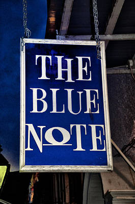 The Blue Note - Bourbon Street Poster by Bill Cannon