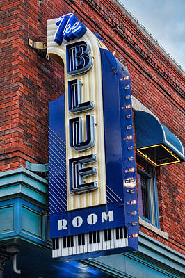 The Blue Room Sign Poster by Steven Bateson