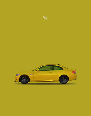 The Bmw M3 E92 Poster by Mark Rogan