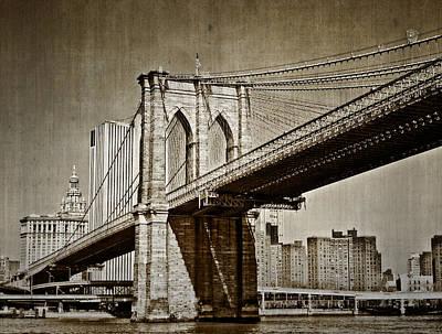 The Brooklyn Bridge Poster by Kathy Jennings