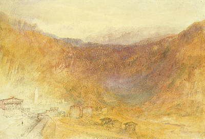 The Brunig Pass From Meiringen Poster by Joseph Mallord William Turner