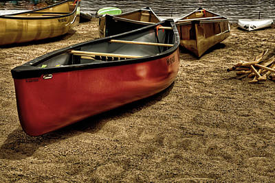 The Canoes Poster by David Patterson
