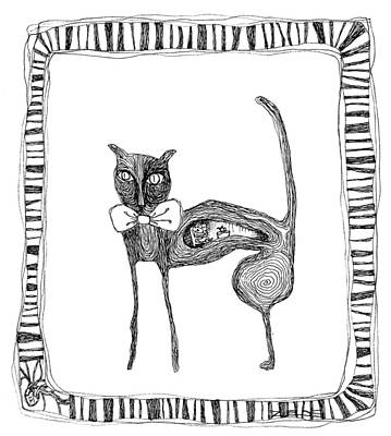 The Cat And The Mouse Poster by Zelde Grimm