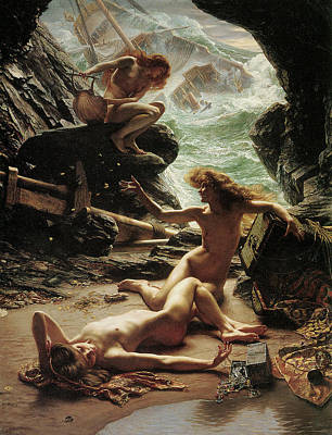 The Cave Of The Storm Nymphs Poster by Edward Poynter