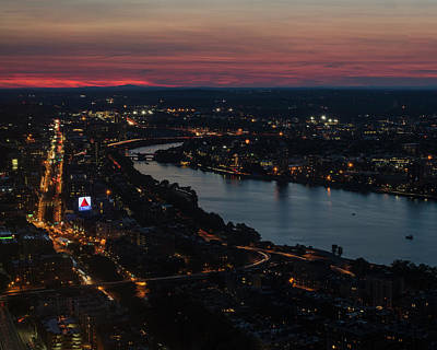 The Charles River Runs Through Boston At Sunset Boston, Ma Poster by Toby McGuire