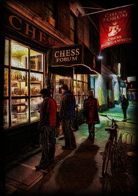 The Chess Forum Poster by Lee Dos Santos
