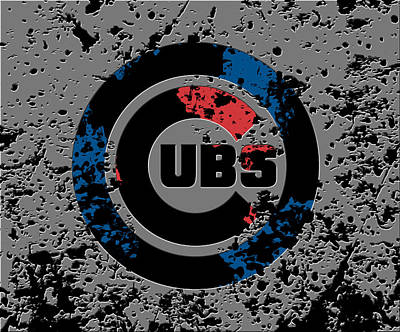 The Chicago Cubs 1b Poster by Brian Reaves